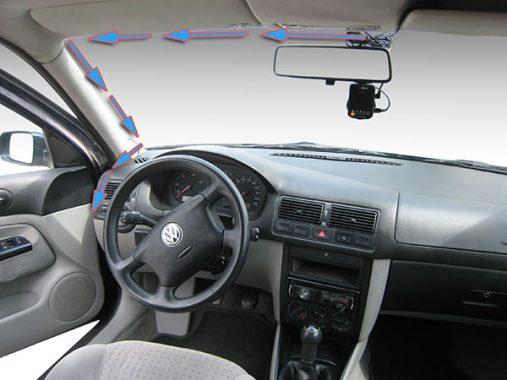 Ръководство за монтаж на видеорегистратор във Volkswagen Golf